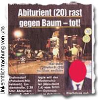 """Abiturient (20) rast gegen Baum – tot!"""