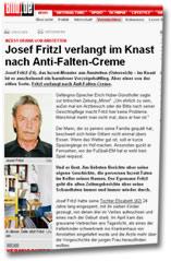 """""""Inzest-Drama von Amstetten: Josef Fritzl verlangt im Knast nach Anti-Falten-Creme"""""""