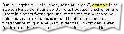 """""""(...) erstmals in der zweiten Hälfte der neunziger Jahre auf Deutsch erschienen und jüngst in einer aufwendigen und kommentierten Ausgabe neu aufgelegt, (...)"""""""