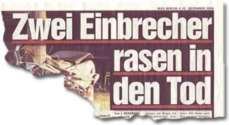 """""""Zwei Einbrecher rasen in den Tod"""""""