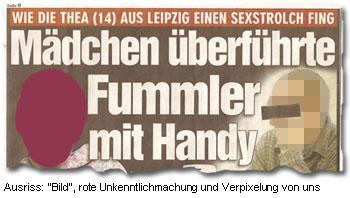 """""""Wie die Thea (14) aus Leipzig einen Sexstrolch fing - Mädchen überführte Fummler mit Handy"""""""