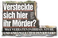 """""""Mordfall Michelle: Versteckte sich hier ihr Mörder? Was verraten Fahrrad, Stuhl und Anhänger über den Killer?"""""""