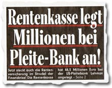 """""""Rentenkasse legte Millionen bei Pleite-Bank an!"""""""