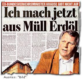 """""""Ex-Bundesverkehrsminister Günther Krause  Ich mach jetzt aus Müll Erdöl"""""""