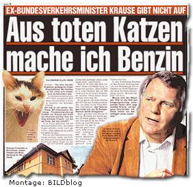 """""""Ex-Bundesverkehrsminister Günther Krause  Aus toten Katzen mache ich Benzin"""""""
