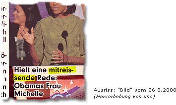"""""""Hielt eine mitreißende Rede: Obamas Frau Michelle"""""""