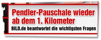"""""""Pendler-Pauschale wieder ab dem 1. Kilometer -- BILD.de beantworte die wichtigsten Fragen"""