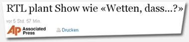 """""""RTL plant show wie Wetten dass...?"""""""