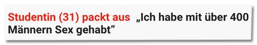 Screenshot Express.de - Studentin pack aus - Ich habe mit über 400 Männern Sex gehabt