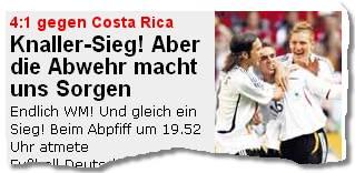 4:1 gegen Costa Rica