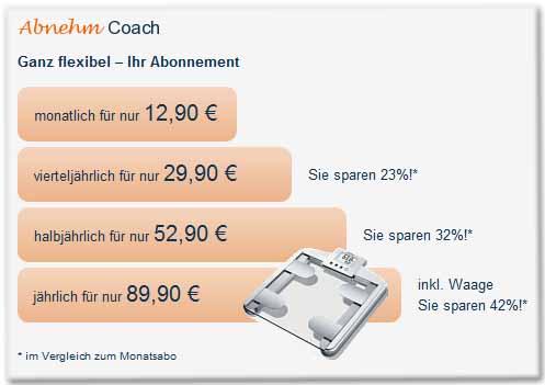 Abnehm Coach Ganz flexibel - Ihr Abonnement