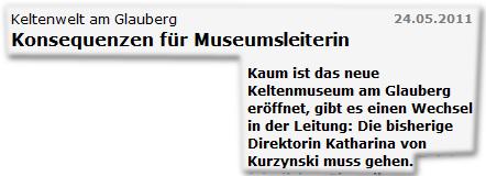 Keltenwelt am Glauberg Konsequenzen für Museumsleiterin