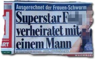 """""""Superstar F. verheiratet mit einem Mann"""""""