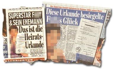 """""""Superstar F. und sein Ehemann: Das ist die Heirats-Urkunde"""""""