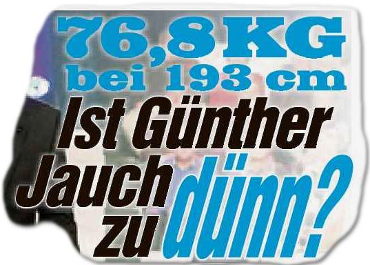 76, 8 Kilo bei 193 cm: Ist Günther Jauch zu dünn?