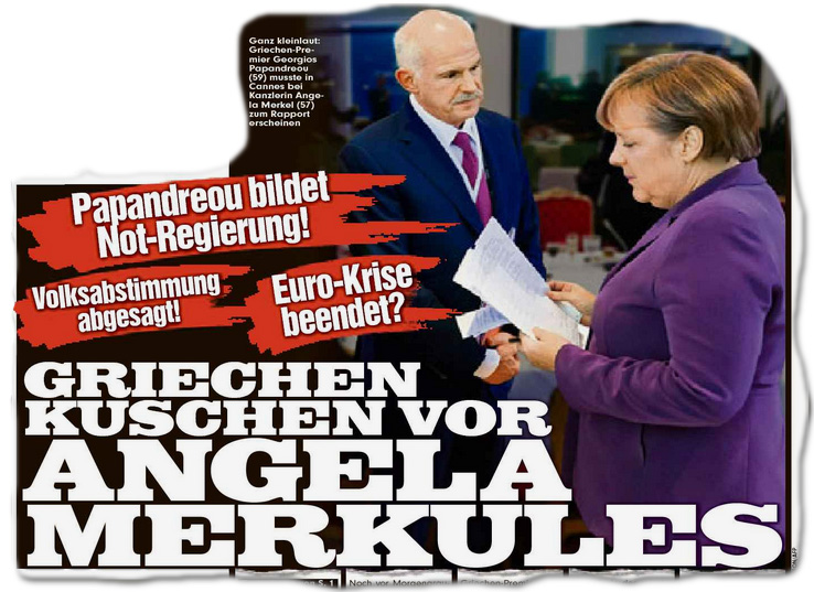 Euro-Krise beendet? Griechen kuschen vor Angela Merkules Papandreou bildet Not-Regierung! +++ Volksabstimmung abgesagt!