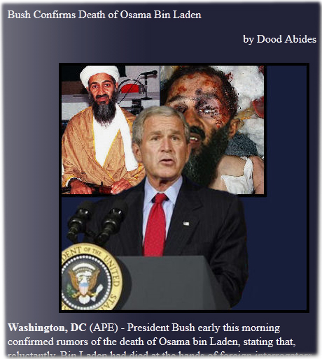 Bush Confirms Death of Osama Bin Laden