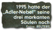 """""""1995 hatte der """"Adler-Nebel"""" seine drei markanten Säulen noch."""""""
