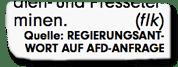 Ausriss Bild-Zeitung - Quelle: Regierungsantwort auf AfD-Anfrage