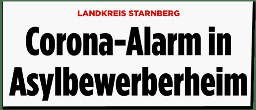 Screenshot Bild.de - Landkreis Starnberg - Corona-Alarm in Asylbewerberheim