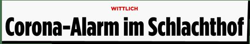 Screenshot Bild.de - Wittlich - Corona-Alarm im Schlachthof