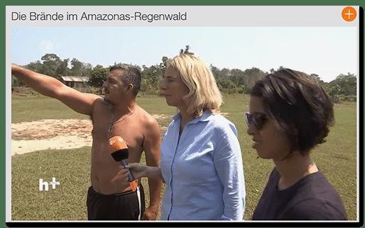 """Screenshot einer ZDF-Reportage: """"Die Brände im Amazonas-Regenwald"""""""