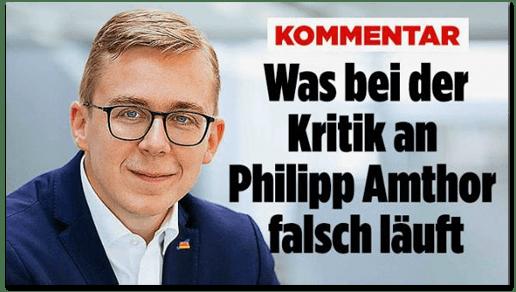 Screenshot Bild.de - Kommentar - Was bei der Kritik an Philipp Amthor falsch läuft