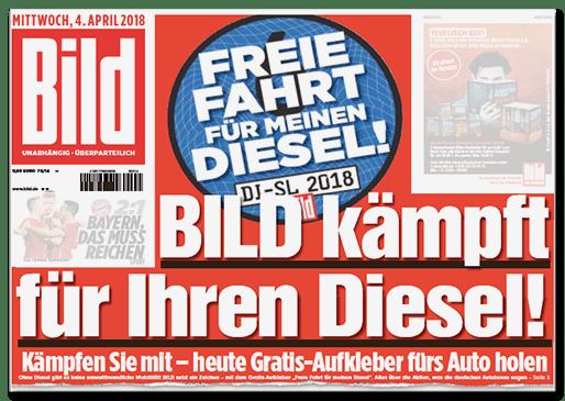 Bild-Titelseite - Bild kämpft für Ihren Diesel