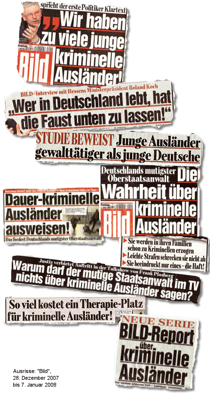 Bild-Schlagzeilen gesammelt und eingebunden von Bildblog.de