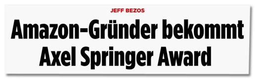 Screenshot axelspringer.de - Jeff Bezos erhält den Axel Springer Award 2018