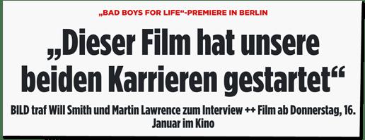Screenshot Bild.de - Bad-Boys-for-Life-Premiere in Berlin - Dieser Film hat unsere beiden Karrieren gestartet - Bild traf Will Smith und Martin Lawrence zum Interview