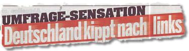 UMFRAGE-SENSATION: Deutschland kippt nach links