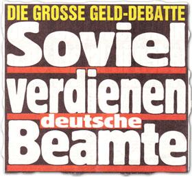 """""""Soviel verdienen deutsche Beamte"""""""