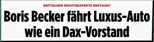 Screenshot Bild.de - Britischer Rechtsexperte erstaunt - Boris Becker fährt Luxus-Auto wie ein Dax-Vorstand