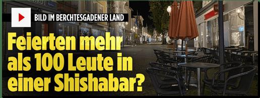 Screenshot Bild.de - Bild im Berchtesgadener Land - Feierten mehr als 100 Leute in einer Shishabar?
