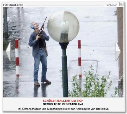Schüler ballert um sich: 6 Tote in Bratislava