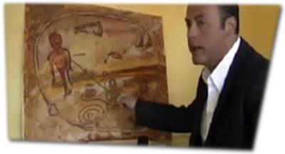 Faksimile einer angeblichen australischen Höhlenmalerei
