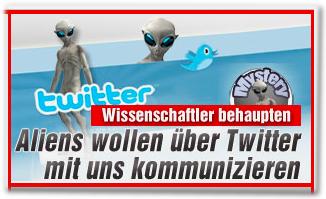 Wissenschaftler behaupten: Aliens wollen über Twitter mit uns kommunizieren