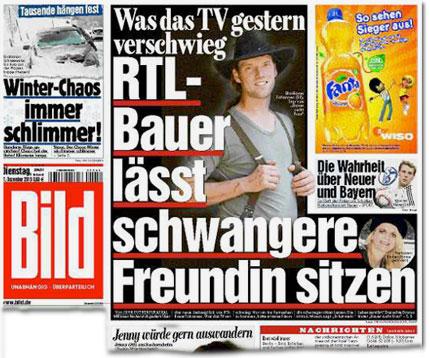 Was das TV gestern verschwieg: RTL-Bauer lässt schwangere Freundin sitzen