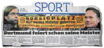Die Fans jubeln: Dortmund feiert seine Meister schon