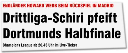 Drittliga-Schiri pfeift Dortmunds Halbfinale