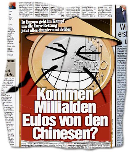 Kommen Millialden Eulos von den Chinesen?