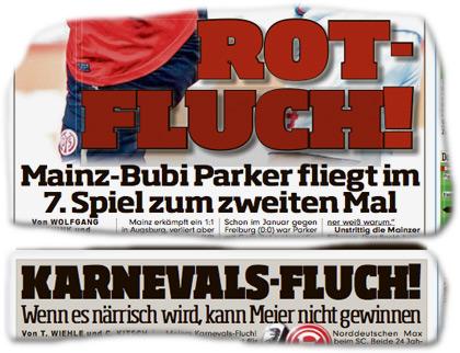 ROTFLUCH! Mainz-Bubi Parker fliegt im 7. Spiel zum zweiten Mal. KARNEVALS-FLUCH! Wenn es närrisch wird, kann Meier nicht gewinnen