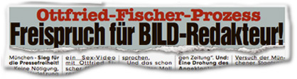 Ottfried-Fischer-Prozess: Freispruch für BILD-Redakteur!