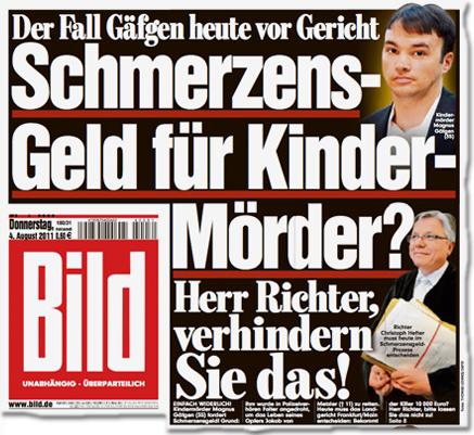 Der Fall Gäfgen heute vor Gericht Schmerzens-Geld für Kinder-Mörder? Herr Richter, verhindern Sie das!