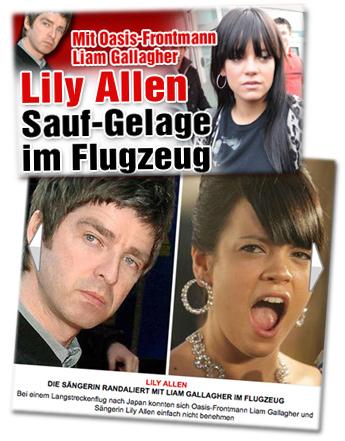 Noel Gallagher und Lily Allen bei Bild.de