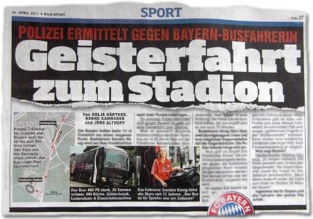 Polizei ermittelt gegen Bayern-Busfahrerin: Geisterfahrt zum Stadion