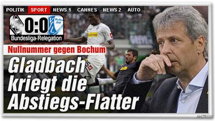 Nullnummer gegen Bochum. Gladbach kriegt die Abstiegs-Flatter.