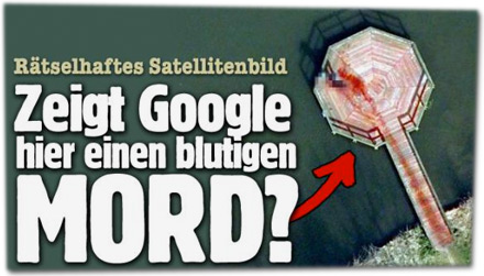 Zeigt Google hier einen blutigen Mord?