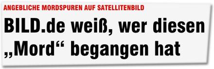 """BILD.de weiß, wer diesen """"Mord"""" begangen hat"""